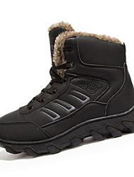 Men's Boots Fall / Winter Snow Boots / Comfort PU Casual Flat Heel  Black / Brown