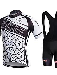 Fastcute® Fahrradtrikot mit Trägerhosen Damen / Herrn / Unisex Kurze Ärmel FahhradAtmungsaktiv / Rasche Trocknung /