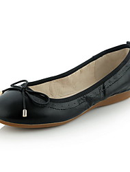 Women's Pull-on Round Closed Toe No-Heel Blend Materials Solid Pumps-Shoes