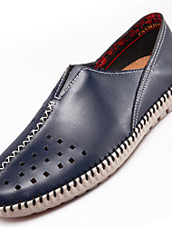 Men's Loafers & Slip-Ons Comfort Cowhide / Leather Casual Flat Heel Slip-on Brown / Gray / Navy Others