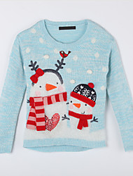 Girl's Casual/Daily Print Sweater & CardiganCotton Fall Blue