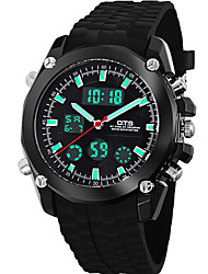 2016 Brand O.T.S Fashion Outdoor Sport Waterproof LED Mens Clock Digital & Quartz Men Watches With Rubber Band 8121