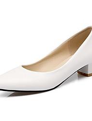 Women's Heels Spring / Summer / Fall / Winter Heels / Basic Pump / Comfort  /ToeSyntheticMaterialsUpperOccasion