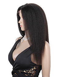 8-12inch 100% brazilian human hair wigs glueless/full lace wigs kinky straight hair wigs