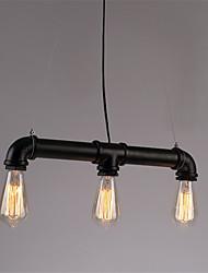 3 Lights Retro Industrial Simple Loft Iron pipe Pendant Lights Living Room Dining Room Kitchen Cafe Light Fixture