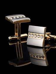 Personalized Gold Plated Square Cufflinks Groomsman Gifts Golden Cuff Buttons With Gift Box Cufflink Men's Jewelry