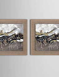 2 Panel Modern Wall Art Pictures Abstract Clouduolc Oil Painting Hand-Painted On Linen Home Decoration With Frame