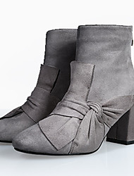Women's Boots Fall / Winter Heels / Fashion Boots Fabric Outdoor / Office & Career / Casual Chunky Heel Zipper / Flower