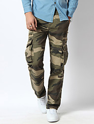 Men's Camouflage Casual / Sport JeansCotton / Spandex Blue / Green WJL-7913#9
