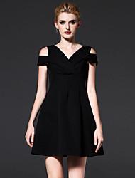 FRMZ  Going out Sophisticated Sheath DressSolid Off Shoulder Knee-length / Above Knee Short Sleeve Red