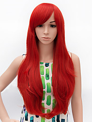 Fashion Long Curly Wig Red Color Synthetic African American Women Wig