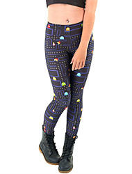 Women Print / PU LeggingPolyester