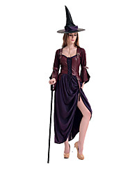 Costumes More Costumes Halloween Purple Patchwork Terylene Dress / More Accessories
