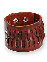 Unisex Fashion Jewelry Rock Punk Style Adjustable Genuine Leather Bracelets Casual/Daily Gift Women Men Accessories