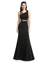 2017 TS Couture® Prom Formal Evening Dress Sheath / Column V-neck Floor-length Jersey with