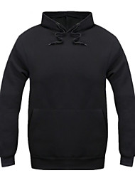 Men's Solid Casual / Sport HoodieCotton Long Sleeve Black / Blue / Red / White / Yellow / Gray