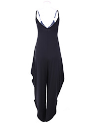 Women's Sexy Strap Beach Casual Plus Sizes V Neck Sleeveless Jumpsuits