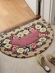 Semicircle Doormat Bedroom Kitchen Bathroom Absorbent Non-Slip Mat (40X70CM)