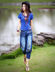 Our Story Women's Embroidered Blue Jeans PantsBoho Spring / Fall