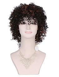 venta caliente Afro rizado pelucas rizadas sintéticas resistentes al calor sintética pelucas baratas para las mujeres negras