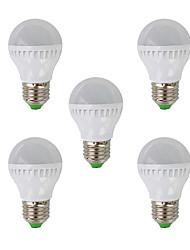 ZDM ™ 5w E26 / e27 привело шар лампы G45 26 СМД 3022 350 лм теплый белый 220-240 В переменного тока 5 шт