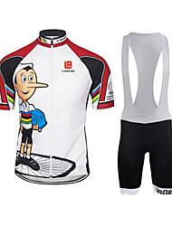 Esportivo Moto/Ciclismo Conjuntos de Roupas/Ternos Homens Manga CurtaRespirável / Secagem Rápida / Vestível / Filtro Solar / Tapete 4D /