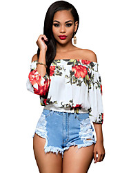 Women's Floral Off-the-shoulder Top