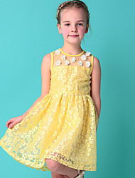 Girl's Casual/Daily Floral DressOthers Summer Yellow