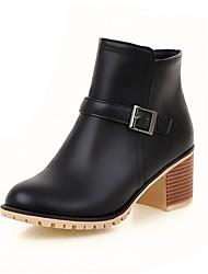 Feminino-Botas-Saltos / Inovador / Botas de Cowboy / Botas de Neve / Botas Cano Curto / Arrendondado / Botas da Moda / Botas de