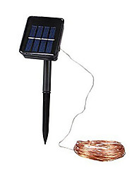 1шт 10m 100LED солнечный свет шнура для праздника венчания партии водить Праздничное освещение