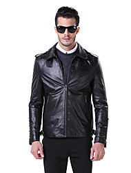 Humiture Men's Black Leather Jacket Stylish Biker Large Genuine Real Cowhide Leather Motorcycle 9911