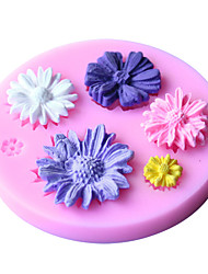 Baking Mold Cake Mold 3D Silicone Mould Cake Decorating Baking Tool  Random Color