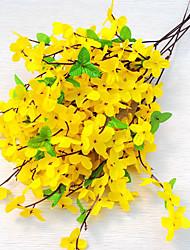 1 1 Ramo Poliéster Orquideas Flor de Mesa Flores artificiais 50cm