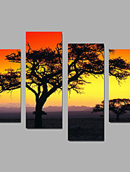 Canvas Set / Unframed Canvas Print Landscape Modern,Four Panels Canvas Any Shape Print Wall Decor For Home Decoration