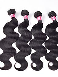 Brazilian Virgin Unprocessed Human Hair Extensions Straight Weaving Machine Made Weft Hair Bundles
