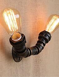 ac 220v-240v 40w e27 nostalgie bg806-2 tuyau d'eau simple, lampe décorative petite paroi murale