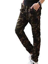 Boy Casual/Daily Print Pants-Cotton Fall