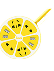 Usb Charger Row Of Plug (Yellow)