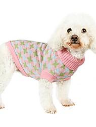 Katzen / Hunde Kostüme / Mäntel / Pullover Grün / Blau / Rosa Hundekleidung Winter / Frühling/Herbst GeometrischNiedlich / Modisch /