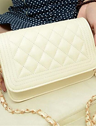 Women Shoulder Bag PU Casual Outdoor White Yellow Fuchsia