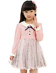 Girl's Casual/Daily Solid Dress,Rayon Spring / Fall Long Sleeve