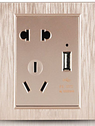 USB Socket Wall Switch
