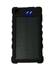 12000mAhbanco do poder de bateria externa Recarga com Energia Solar / Output Múltiplo / Lanterna 12000Output 1:5V 1000mA Output 2:5V