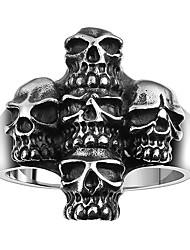 Ringe Ohne Stein Halloween / Alltag / Normal Schmuck Stahl Herren Ring 1 Stück,8 / 9 / 10 / 11 Silber