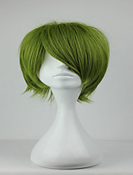 nova Kuroko não basuke midorima shintaro 32 centímetros exército sintética peruca curta cosplay verde