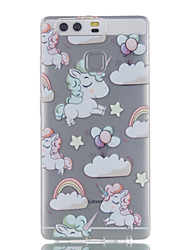 For Huawei P9 P9 Lite P8 Lite Unicorn Pattern High Permeability TPU Material Phone Case