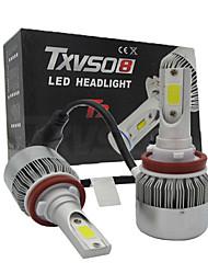 2x universalité h11 conduit phare torchis voiture 110w conduit phares conversion ampoule kit lumière 6500k phare automatique