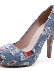 Women's Heels Platform Microfibre / Denim Office & Career / Party & Evening / Dress / Casual Stiletto Heel Others Blue