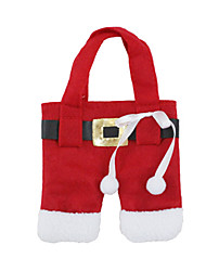 Christmas Toys / Gift Bags Holiday Supplies 2Pcs Christmas Textile Red