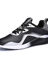 Femme-Décontracté / Sport-Bleu / Gris / Noir et rouge / Noir et blanc-Talon Plat-Confort-Sneakers-Polyuréthane